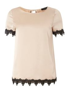 Dorothy Perkins Lace Trim Tee
