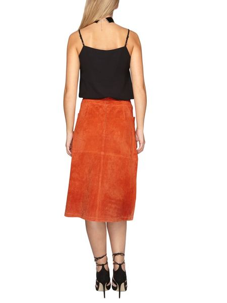 Dorothy Perkins Suede A-Line Skirt