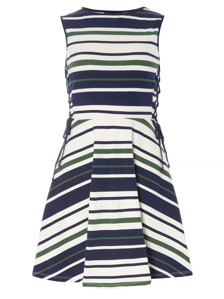 Dorothy Perkins Stripe Tie Side Dress