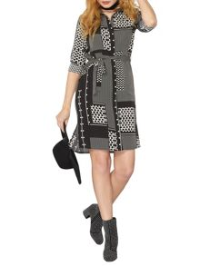 Dorothy Perkins Heart Patchwork Shirt Dress