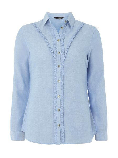 Dorothy Perkins Double Ruffle Shirt