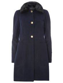 Dorothy Perkins Fur Fit and Flare Coat