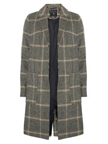 Dorothy Perkins POW Check Crombie Coat