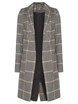 Tall Checked Pow Crombie Coat