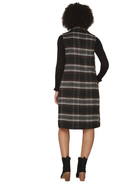 Dorothy Perkins Checked Sleeveless Coat