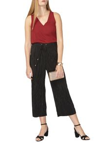 Dorothy Perkins Plisse Crop Trousers