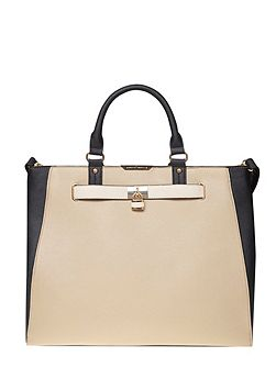 Belted Oversized Tote Bag