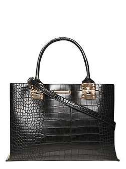 Faux Croc Luxe Tote Bag
