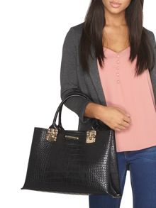 Dorothy Perkins Faux Croc Luxe Tote Bag