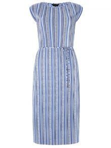 Dorothy Perkins Stripe Pleat Midi Dress
