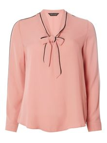Dorothy Perkins Long Sleeve Pussy Bow Blouse