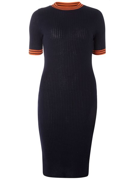 Dorothy Perkins Knitted Short Sleeve Tipped Dress
