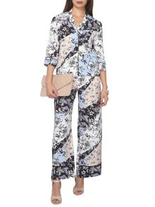 Dorothy Perkins Petite Floral Wideleg Trousers