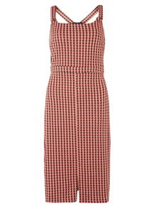 Dorothy Perkins Check Midi Pinny Dress