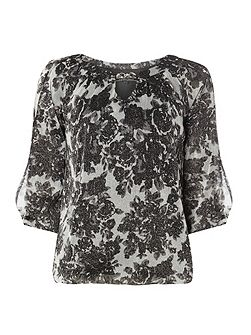 Billie Black Label Floral Bubble Top