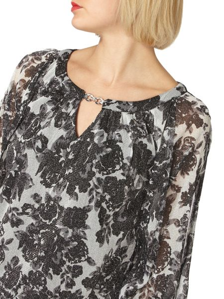 Dorothy Perkins Billie Black Label Floral Bubble Top