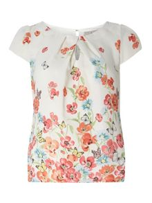Dorothy Perkins Billie Petites Floral Shell Top