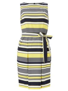 Dorothy Perkins Stripe Poplin Fit and Flare Dress