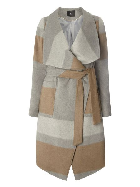 Dorothy Perkins Striped Waterfall Coat