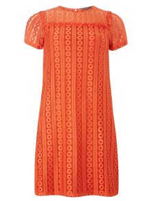 Dorothy Perkins Geometric Print Lace Shift Dress