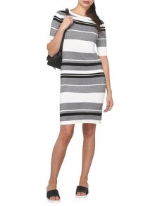 Dorothy Perkins Petite Stripe Midi Dress