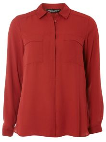 Dorothy Perkins Collard Double Pocket Shirt