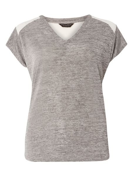 Dorothy Perkins Slink V Neck Colour Block Top