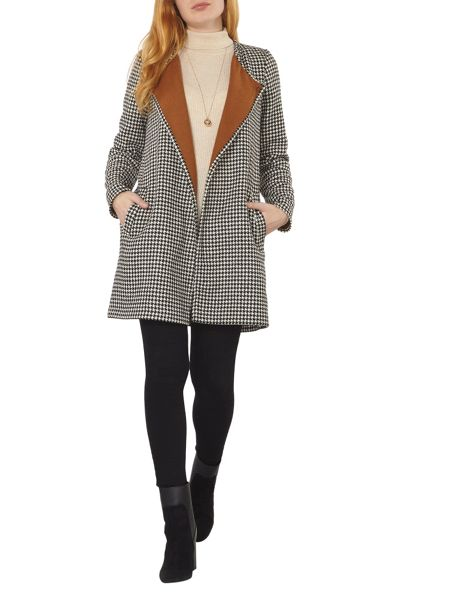 Dorothy Perkins Dogtooth Double Faced Coat