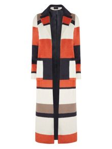 Dorothy Perkins Striped Maxi Coat