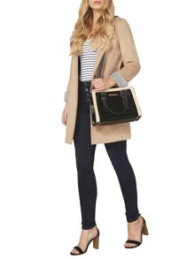 Dorothy Perkins Faux Croc Boxy Tote Bag
