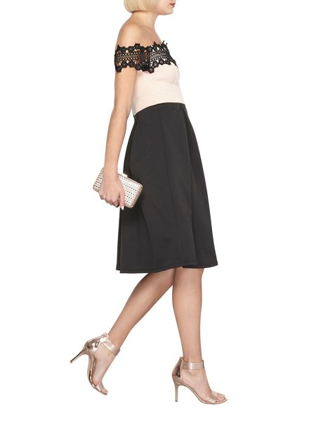 Dorothy Perkins Lace Top Fit and Flare Dress