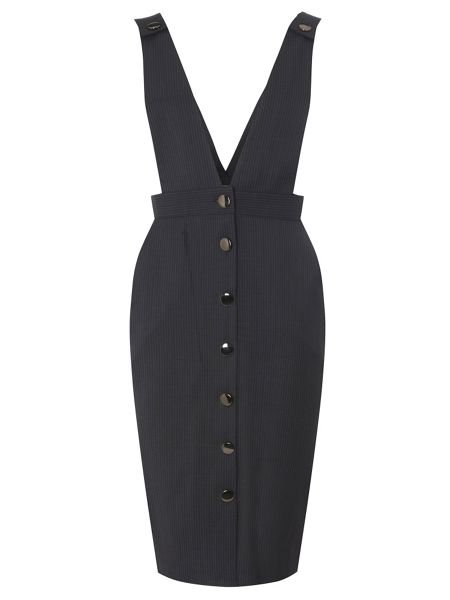 Dorothy Perkins Pinstripe Brace Dress