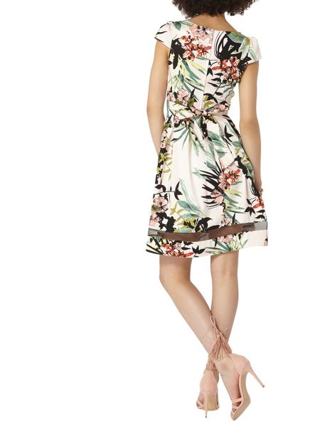 Dorothy Perkins Tropical Print Fit and Flare Dress