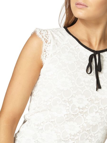 Dorothy Perkins Lace Tie Neck Top