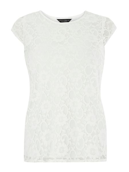 Dorothy Perkins Lace Wrap Back Top