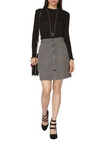 Dorothy Perkins Check Button Skirt
