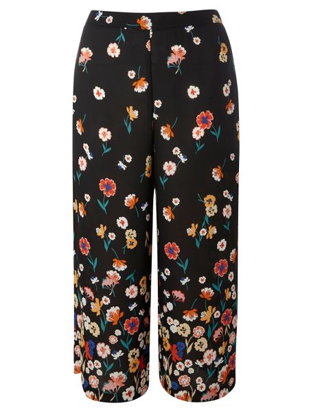 Dorothy Perkins Floral Border Print Cropped Trousers