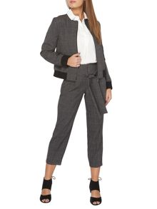 Dorothy Perkins Petite Tie Check Trousers
