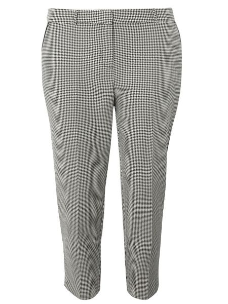 Dorothy Perkins Petite Dogtooth Straight Leg Trousers