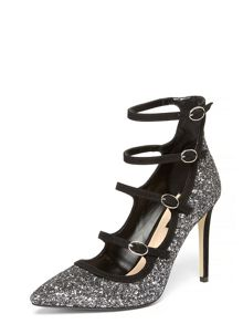 Dorothy Perkins Pewter Glitter Bella Courts