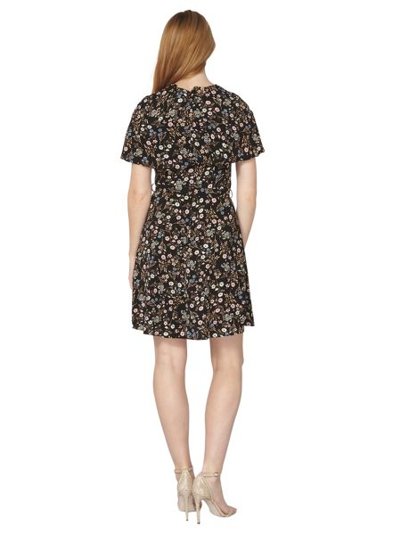Dorothy Perkins Cape Sleeved Fit and Flare Dress