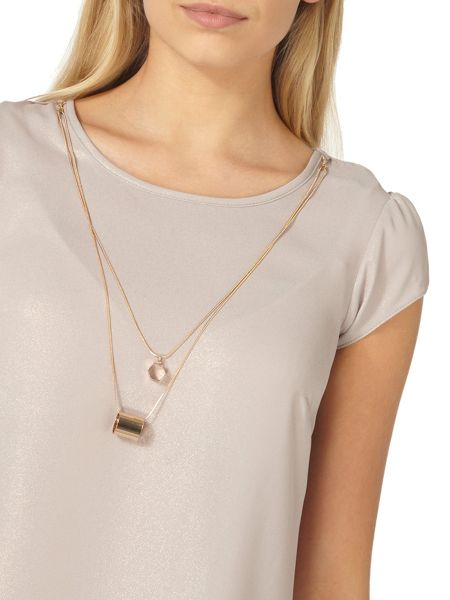 Dorothy Perkins Shimmer Chain Necklace T-Shirt