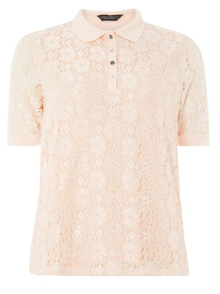 Dorothy Perkins Lace Polo Top