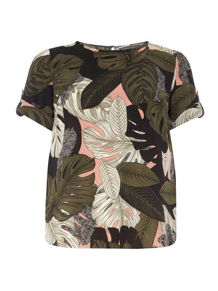 Dorothy Perkins Peach Tropical Soft Tee