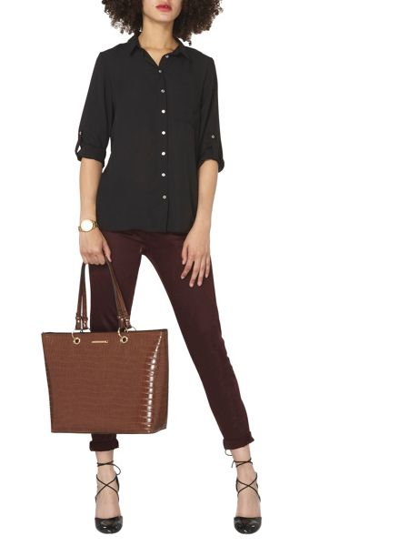 Dorothy Perkins Relaxed Roll Sleeve Top