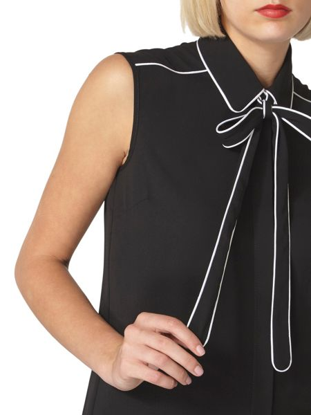 Dorothy Perkins Piped Pussybow Top