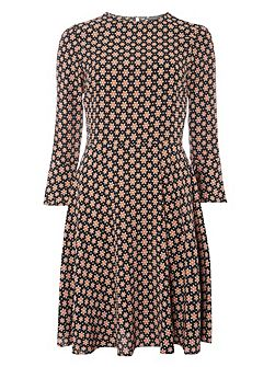 Tall Star Print Fit and Flare Dress
