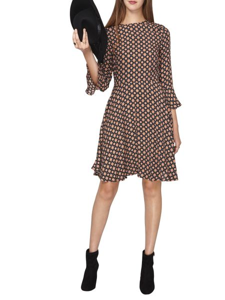 Dorothy Perkins Tall Star Print Fit and Flare Dress