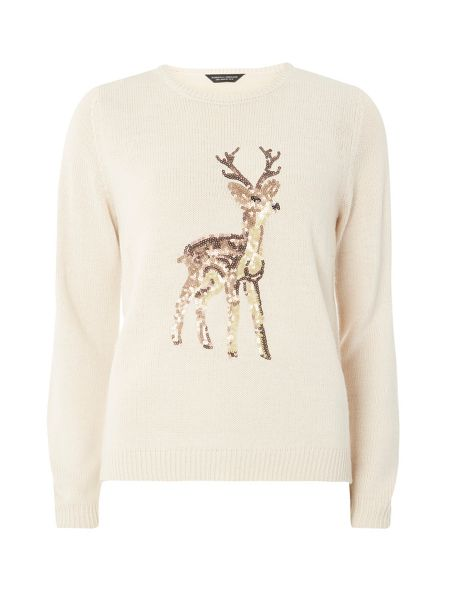Dorothy Perkins Sequined Reindeer Jumper