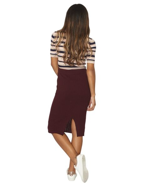 Dorothy Perkins Rib Knit Midi Skirt